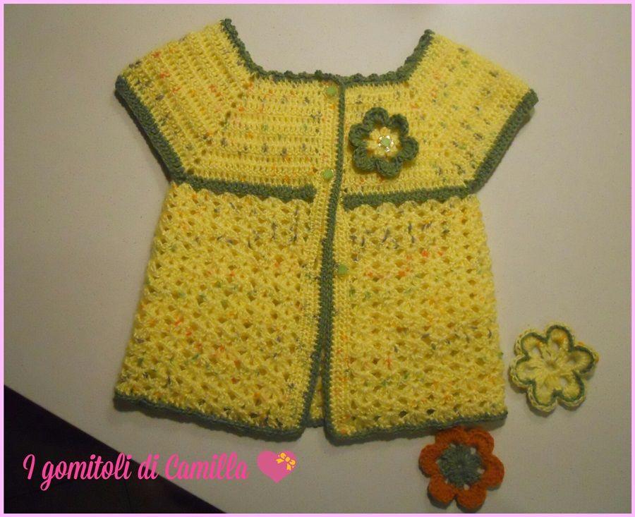 Giacchino semplice a uncinetto per bimba crochet for children