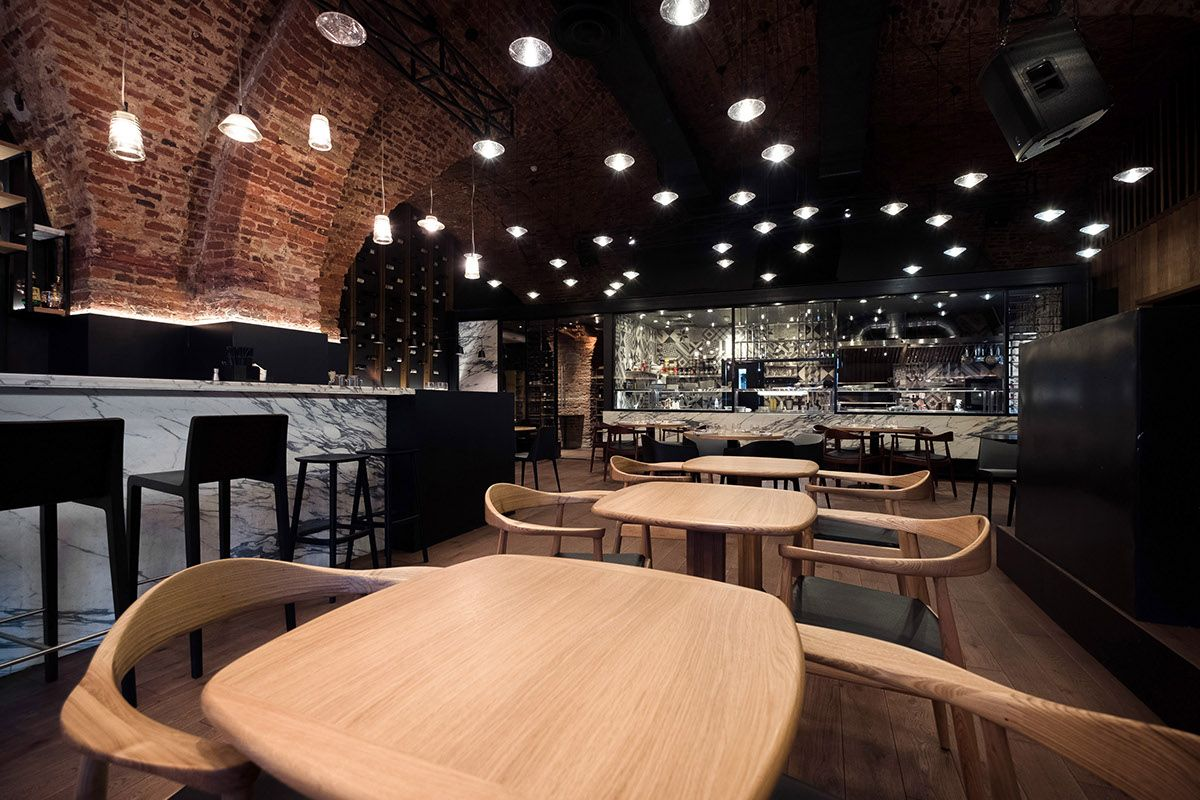 Wine bar in the downtown of Saint-Petersburg, Russia.