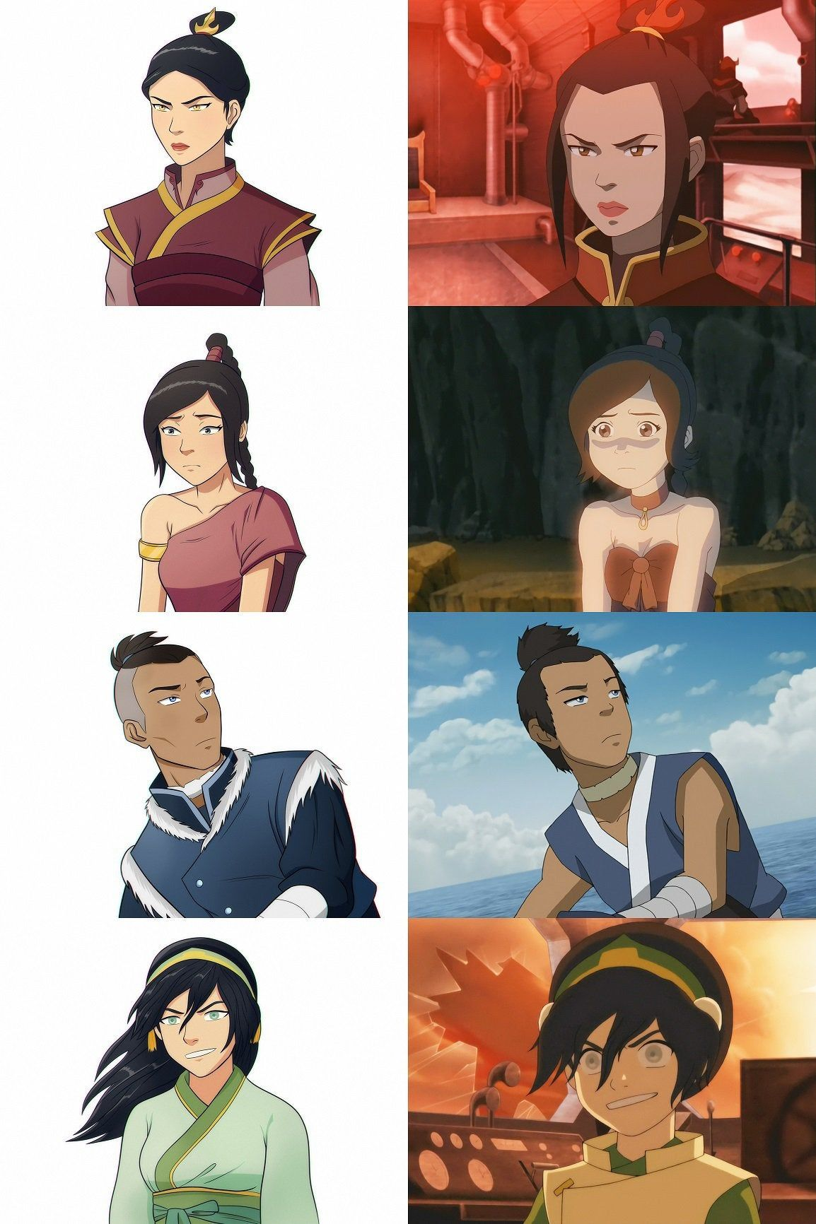 I Redrew Some Of The Characters As 10 Years Older Than The Show Thelastairbender Avatar Characters Avatar Airbender Avatar Funny