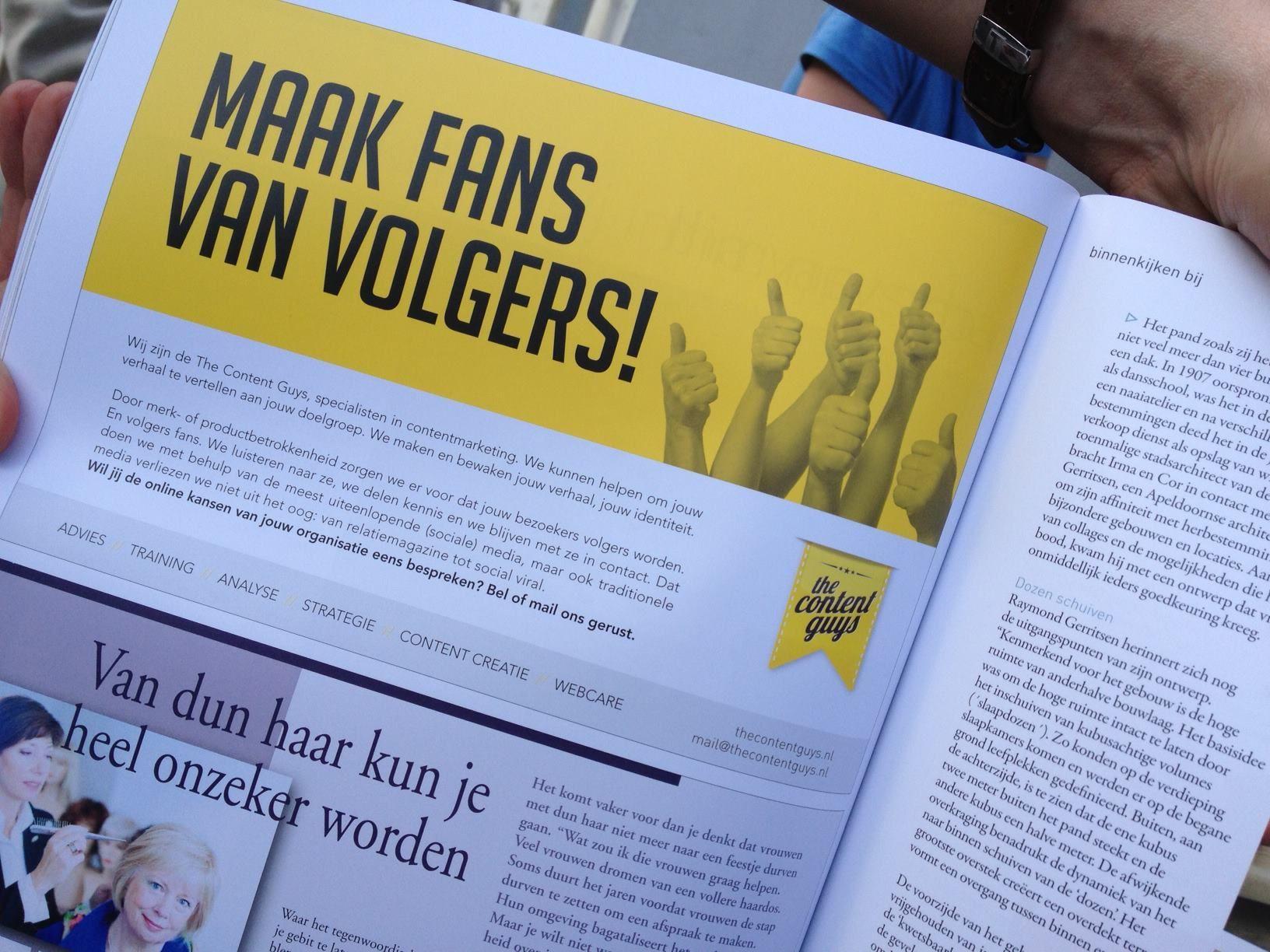 The Content Guys offline aanwezig in Eigen! Magazine!