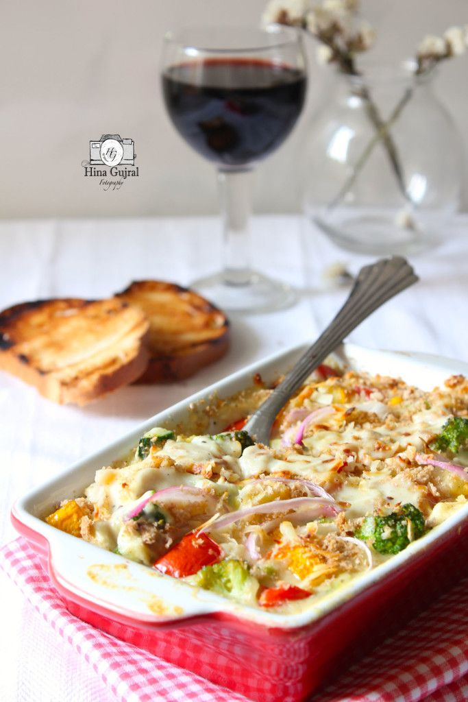 Baked vegetable in white sauce recipe white sauce recipes baked baked vegetable in white sauce is a medley of vegetables cooked in creamy white sauce find recipe of continental style baked vegetable in whole wheat sauce forumfinder Image collections