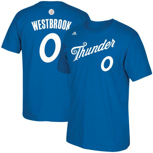 Russell Westbrook Oklahoma City Thunder adidas 2016 Christmas Day Name & Number T-Shirt - Blue