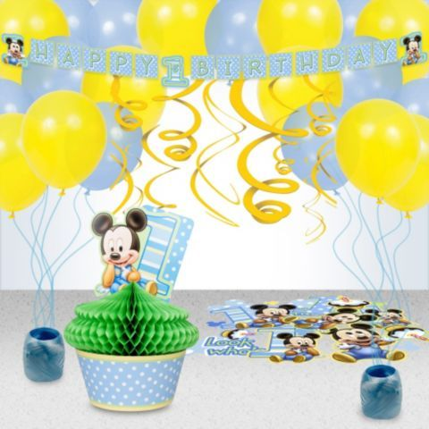 Shop for Mickeys 1st Birthday Decoration Kit and other Decoration