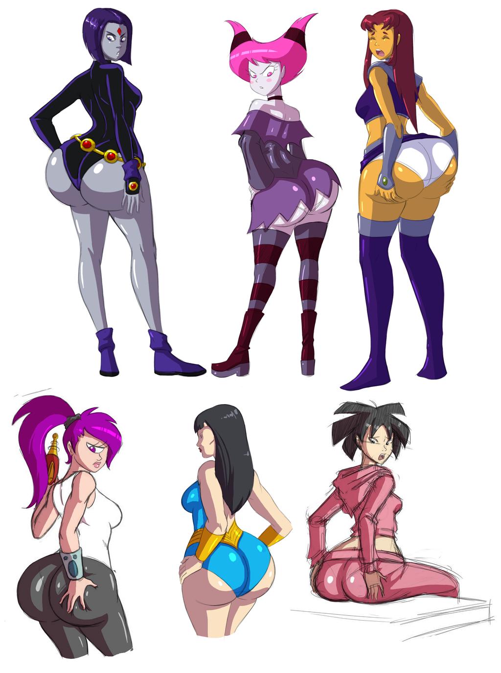 nudist women cartoon