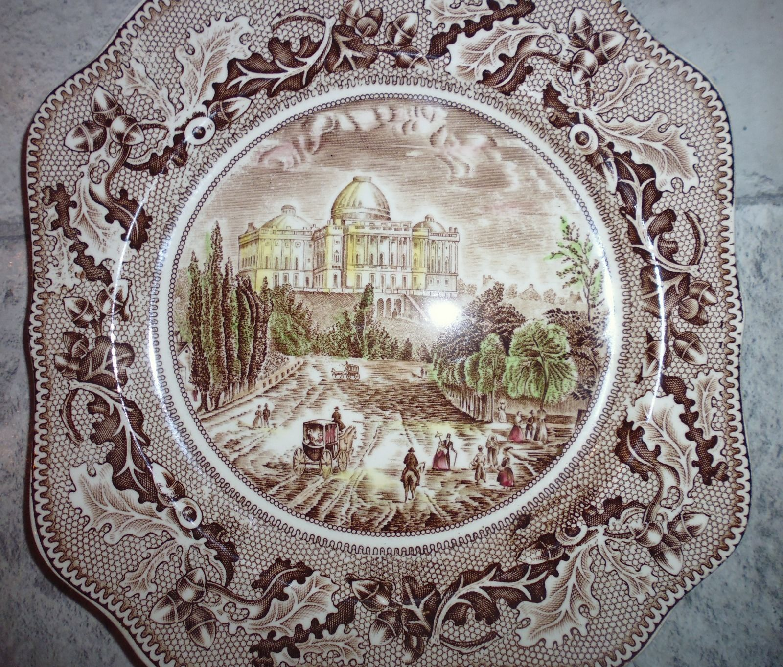 Johnson bros plate - #historic america genuine hand #engraving ...