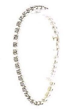 Silver Single Row Rhinestone Bracelet