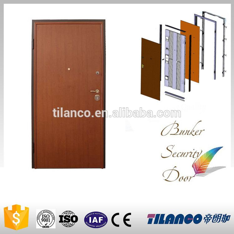 ENV1627 Class 3 Competitive Price Armored Door With Smooth Door Leaf