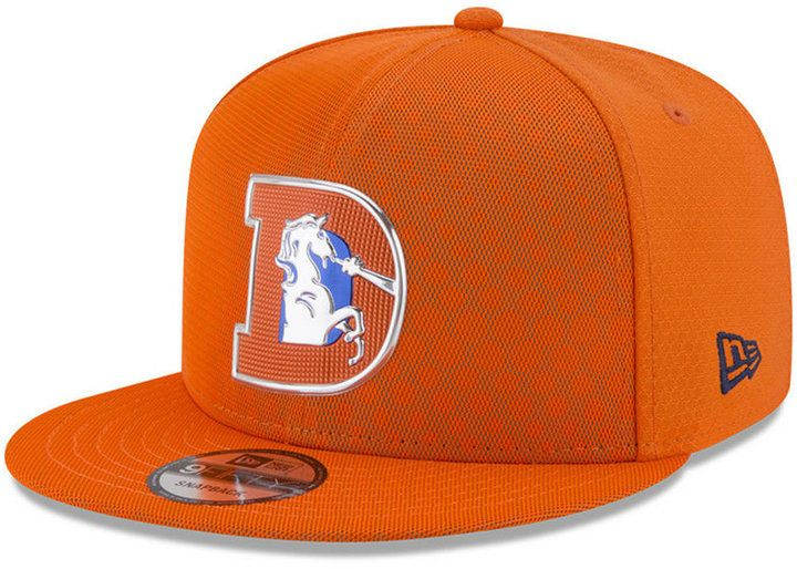 cf5cb1c56 New Era Denver Broncos On Field Color Rush 9FIFTY Snapback Cap ...