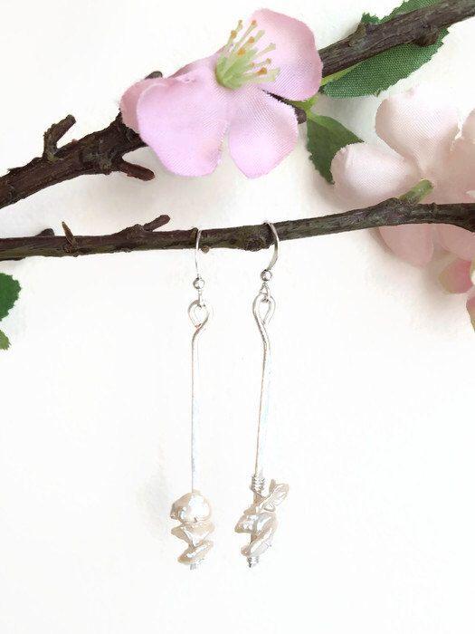 Minimalist Wire Earrings Keshi Pearl Earrings Silver Wire Dangle Earrings Minimalist Silver Wire Earrings Keshi Pearl Earrings (E167) by JulemiJewelry on Etsy https://www.etsy.com/listing/228095296/minimalist-wire-earrings-keshi-pearl