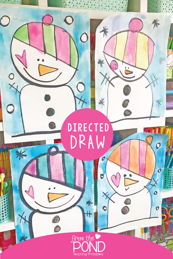 Winter Directed Drawing : winter, directed, drawing, Snowman, Directed, Drawing, Winter, Lesson,, Classroom, Projects,