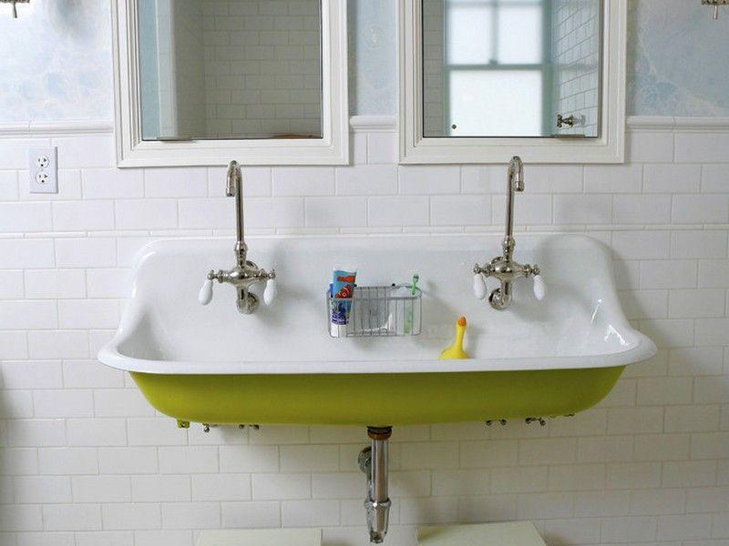 Double Farmhouse Bathroom Sink A Little Bit Of Home