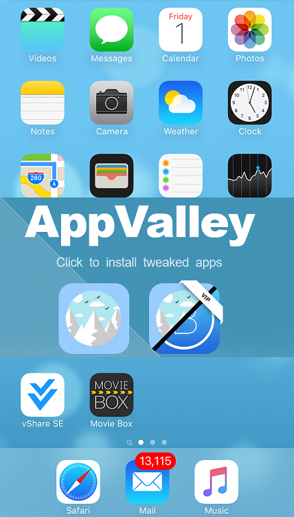 Appvalley Download to install MovieBox to your iDevices