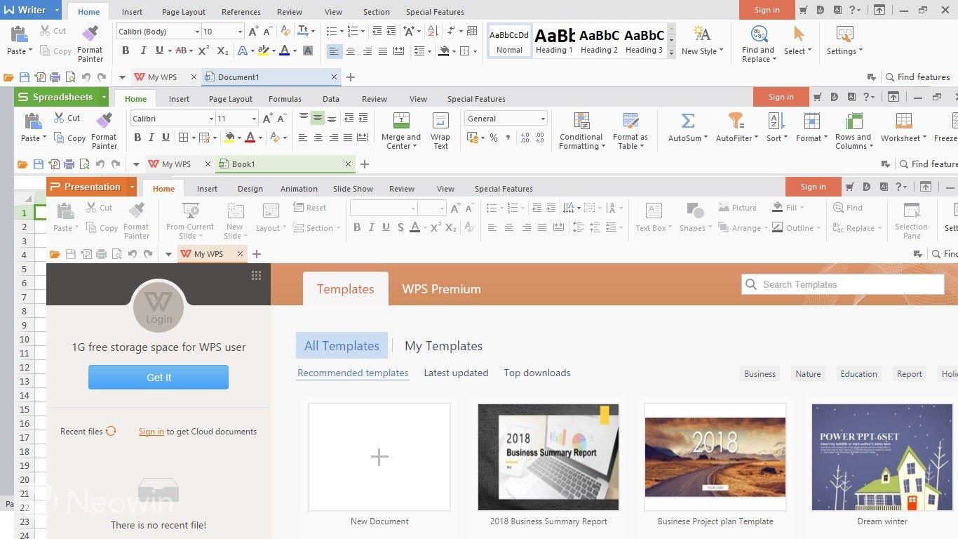 Wps Office Free 11 2 0 9403 Program Indirme Sitesi 2020 Microsoft Free Bilgisayar