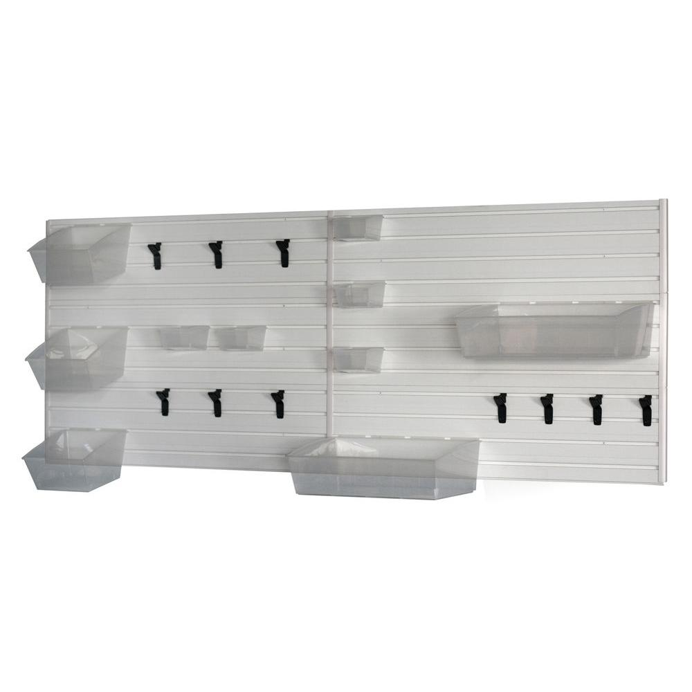 Flow Wall 36 in. H x 96 in. W White Laundry and Utility Room Wall Storage Set-FWS-4812-6WB14 - The Home Depot