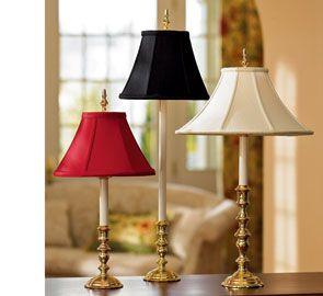 Sarah Coke Brass Candlestick Lamps