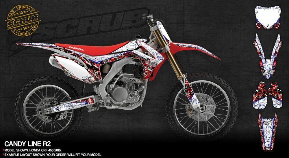 Honda dirt bike graphics SCRUBdesignz dirtbike motocross enduro
