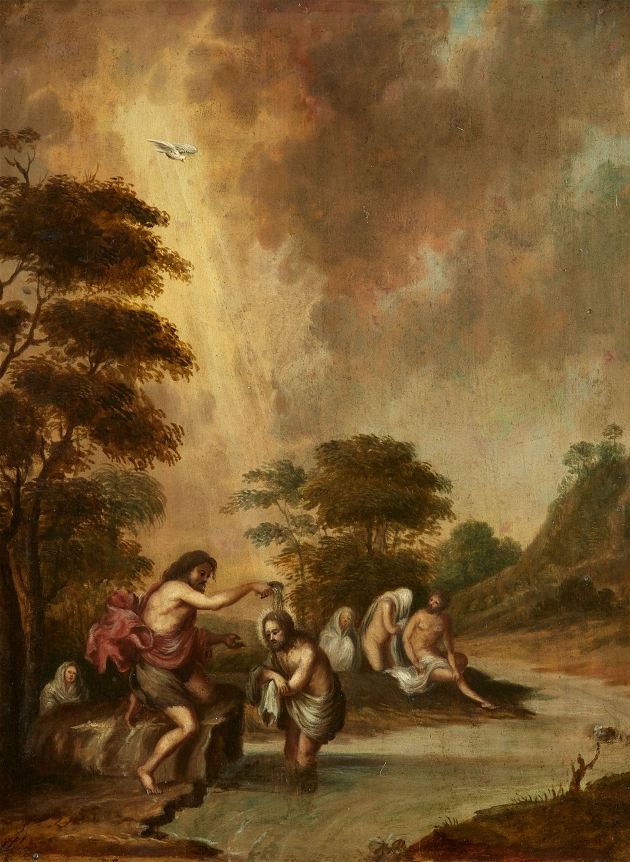 Niederländischer Meister Taufe Christi Auktion 1083