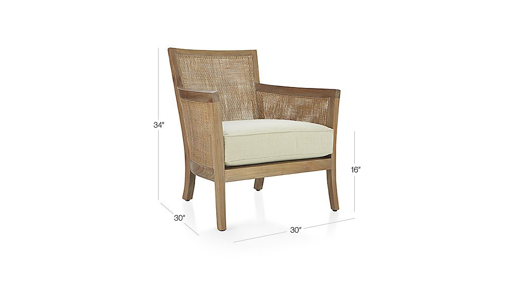 Crate and barrel chair rattan chair small living room