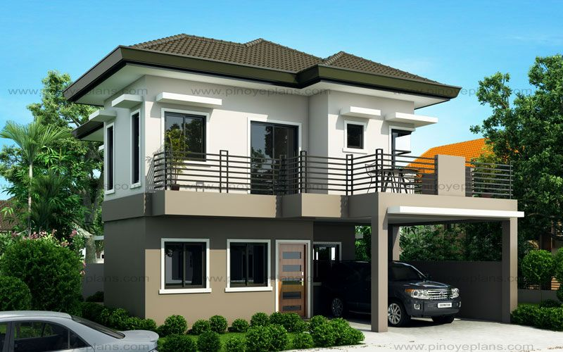 Sheryl Four Bedroom Two Story House Design Pinoy Eplans Two Storey House Plans 2 Storey House Design Beautiful House Plans