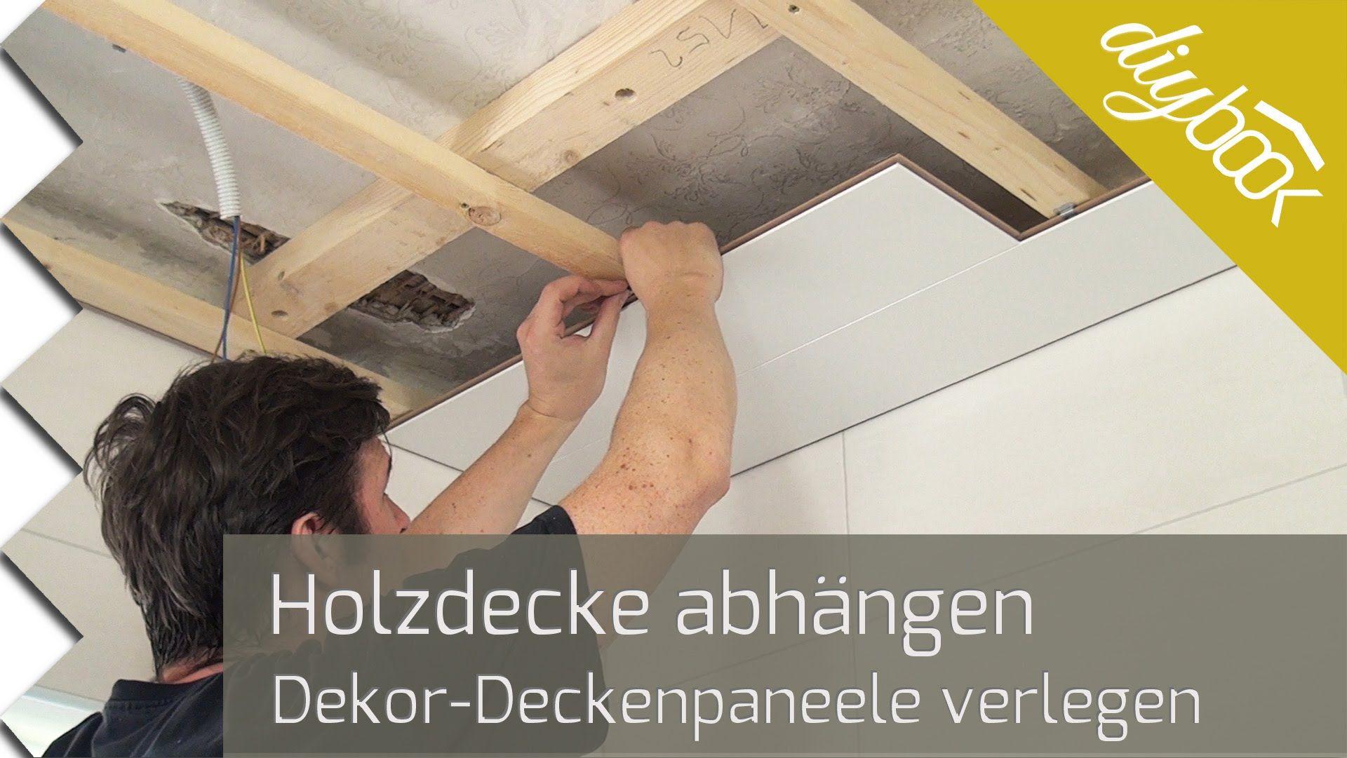 Die Holzdecke Nut Feder Deckenpaneele Verlegen Deckenpaneele Deckenpaneele Holz Holzdecke