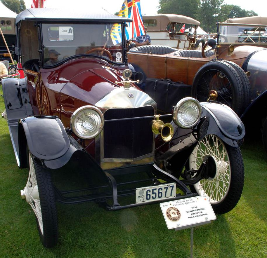 1915 Scripps-Booth Model C. The car also was the first with electric ...