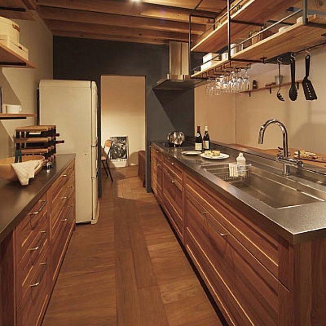 カップボード キッチン ステンレス天板 Woodone ウッドワン などの
