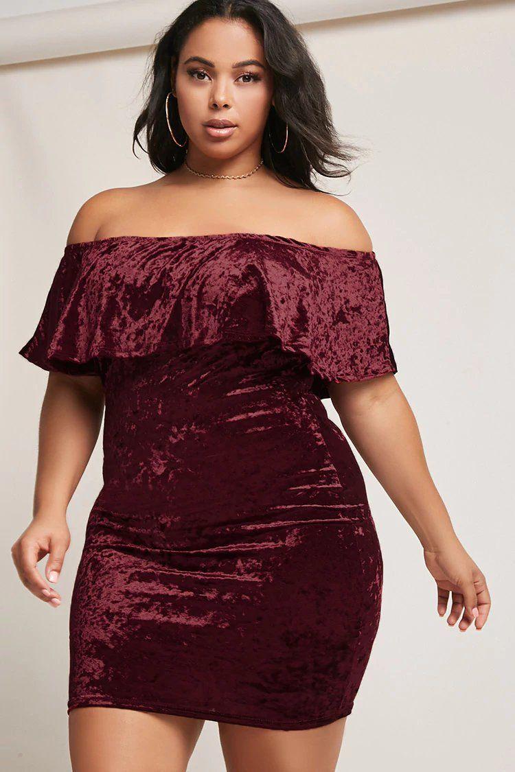 8e6e73165d57 Product Name Plus Size Velvet Off-the-Shoulder Dress