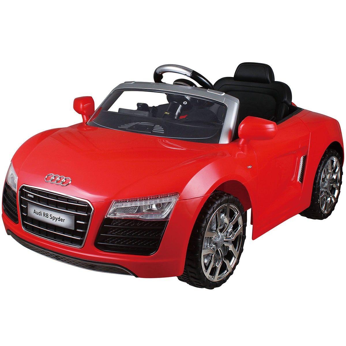 audi r8 spyder 12v electric kids ride on car licensed mp3 rc remote control 2 color