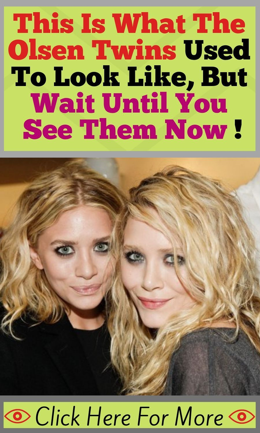 This Is What The Olsen Twins Used To Look Like, But Wait