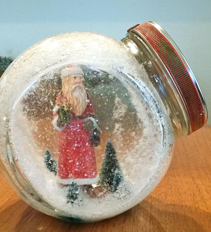 Globe for miniature Christmas scene