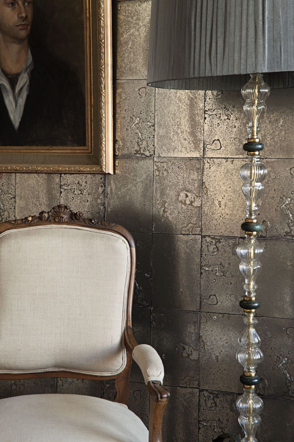 Glorious Antique Mirror Wallpaper By Cole Amp Son From The