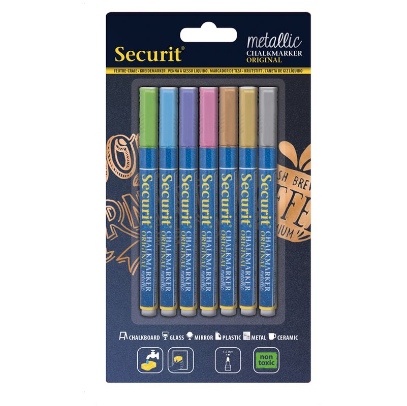 Securit Kreidemarker ORIGINAL SMALL blau 1-2 mm