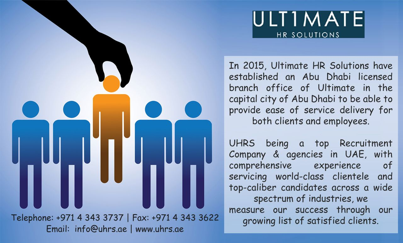 Pin by Ultimate HR Solutions on Recruitment Agencies Dubai