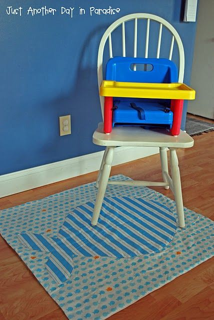 Diy Vinyl High Chair Spill Mat Kama Boy Baby Sewing