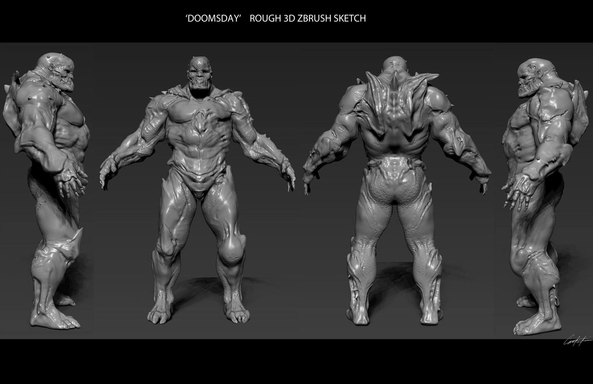 More Doomsday Wonder Woman Concept Art From Batman Vs