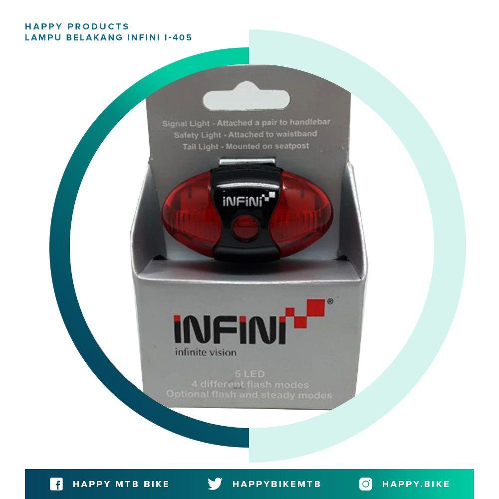 Lampu Belakang Infini I 405 Dengan 5 Mata Led Terdapat 4 Mode Menyala