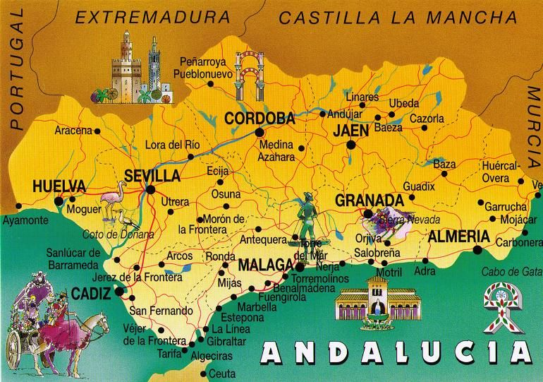 andalusia Spain POSTCARD EXCHANGE Moors Pinterest