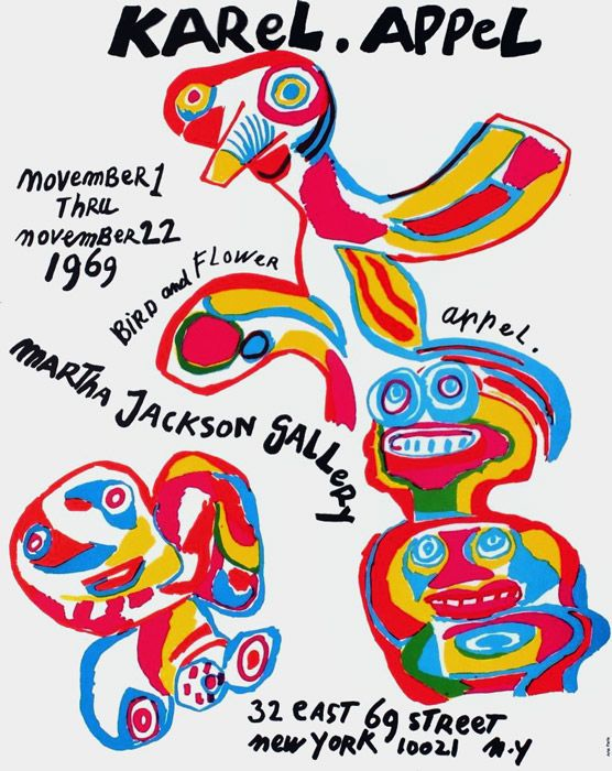Karel Appel - Martha Jackson Gallery - 1969 - W.B.