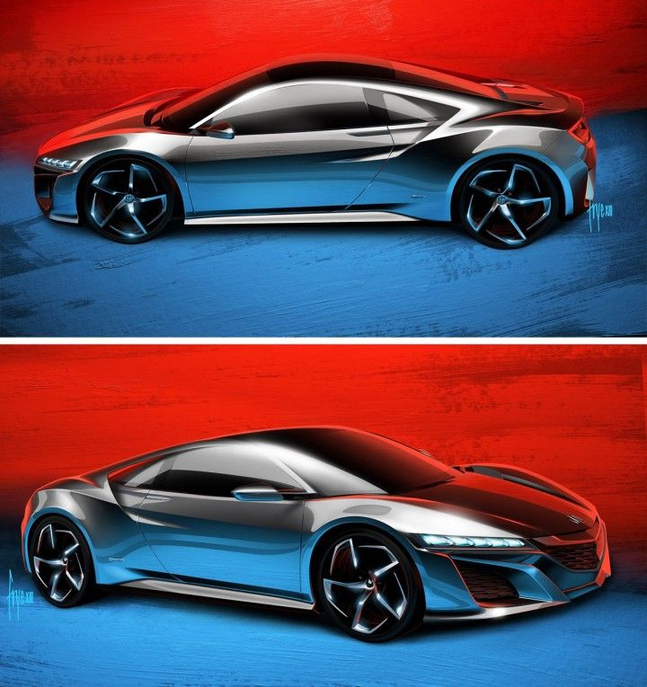 Honda NSX Concept - Design Sketches By John Frye
