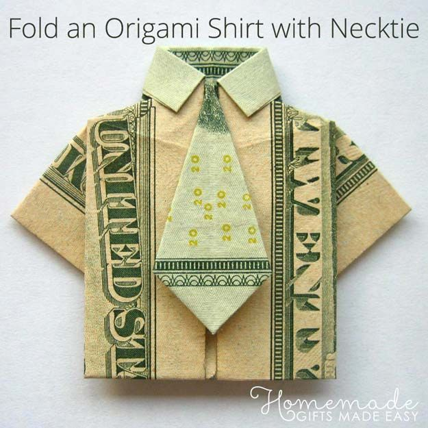 25 awesome money origami tutorials pinterest origami shirt diy money origami money origami shirt and tie step by step tutorials for star flower heart buttlerfly animals tree letters bow and boxes cute mightylinksfo