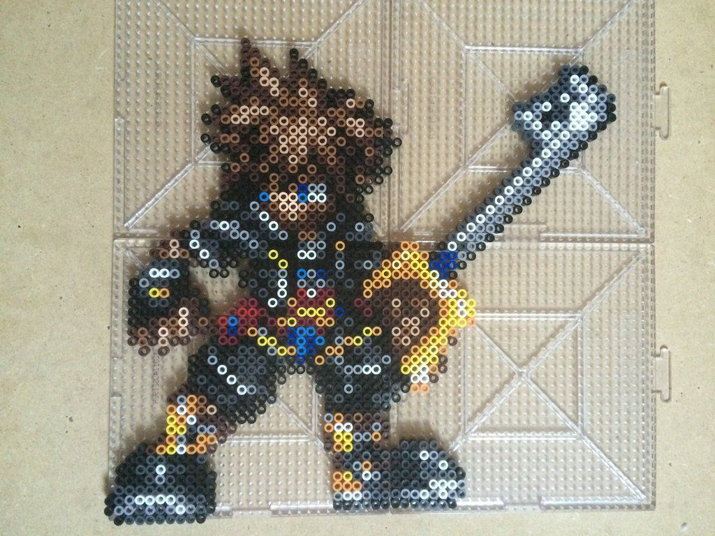 Sora - Kingdom Hearts perler beads by TehMorrison