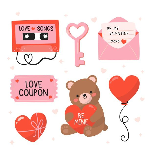 Download Hand Drawn Valentine S Day Element Collection For Free Valentines Illustration Valentines Day Drawing How To Draw Hands