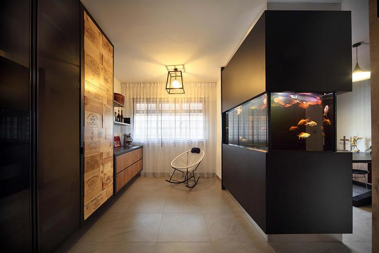 Fish tank division wall Interior design Pinterest Fish tanks - eine dynamisches modernes kuche design darren morgan