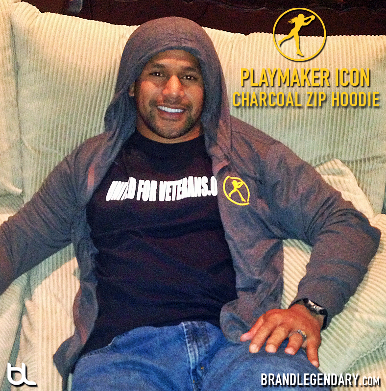 new style 08714 41f3b Troy Polamalu – Playmaker Icon Charcoal Zip Hoodie | Troy ...