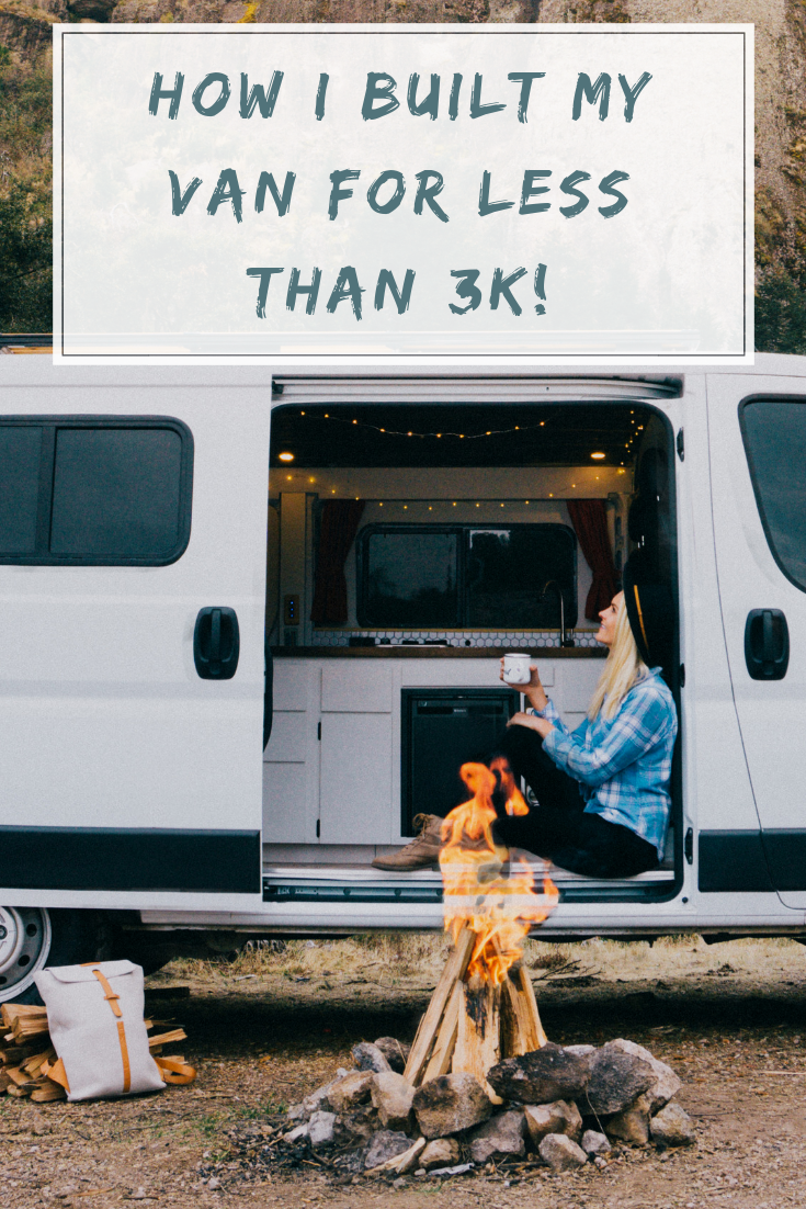 Our step-by-step guide covers exactly how we built out our Promaster van - for less than 3K! #built #Cheap #Van #van life diy #van life diy how to build #van life diy ideas #van life diy interiors #van life diy projects