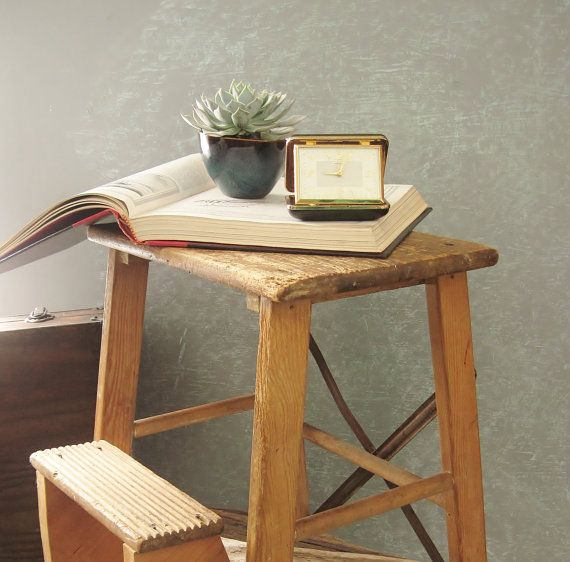 Beautiful Two Step Wooden Stool