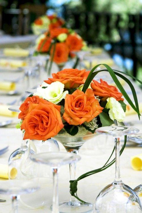 Change The Colors A Little Bit And Do Orange Dark Blue For Budget Wedding Centerpieceswedding Reception Ideasflower