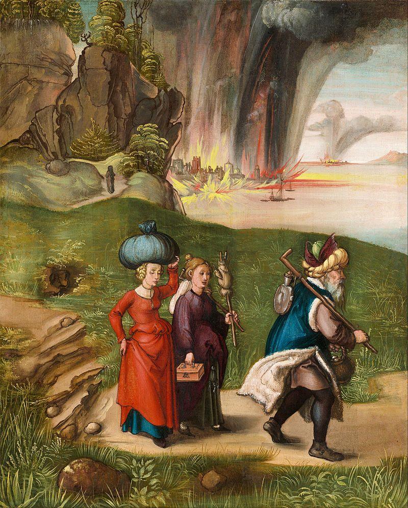 Albrecht Durer Lot And His Daughters Reverse Albrecht Durer
