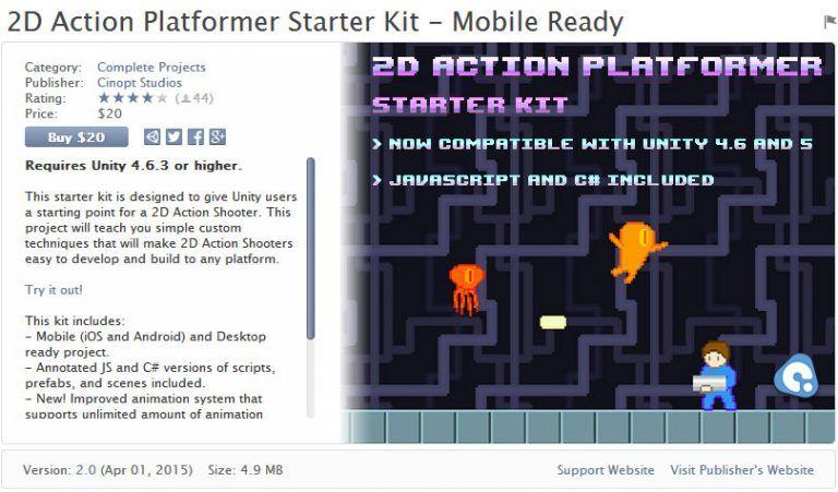 2D Action Platformer Starter Kit – Mobile Ready Unity Asset Store