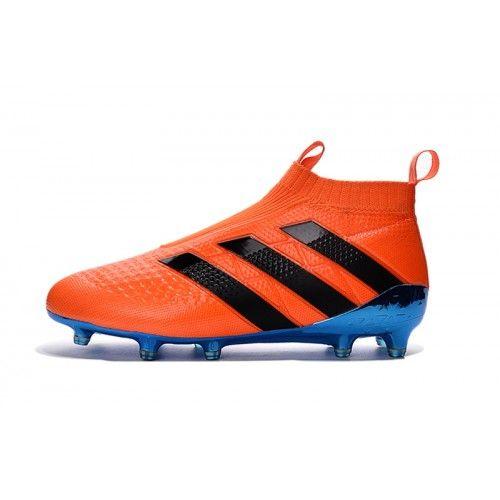 new product c550e 64d04 Baratas 2017 Adidas ACE 16 Purecontrol Naranja Azul Botas De Futbol